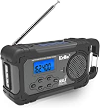 Emergency Solar Hand Crank Portable Radio, NOAA Weather Radio for Outdoor Emergency with AM/FM, LED Flashlight, Reading La...