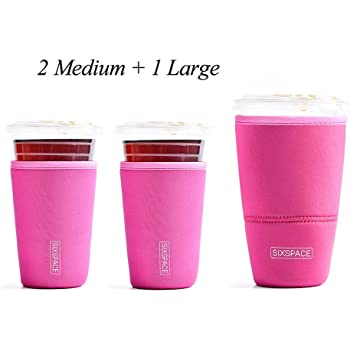 Amazon.com: Reusable Iced Coffee Sleeve Insulator Cup ...