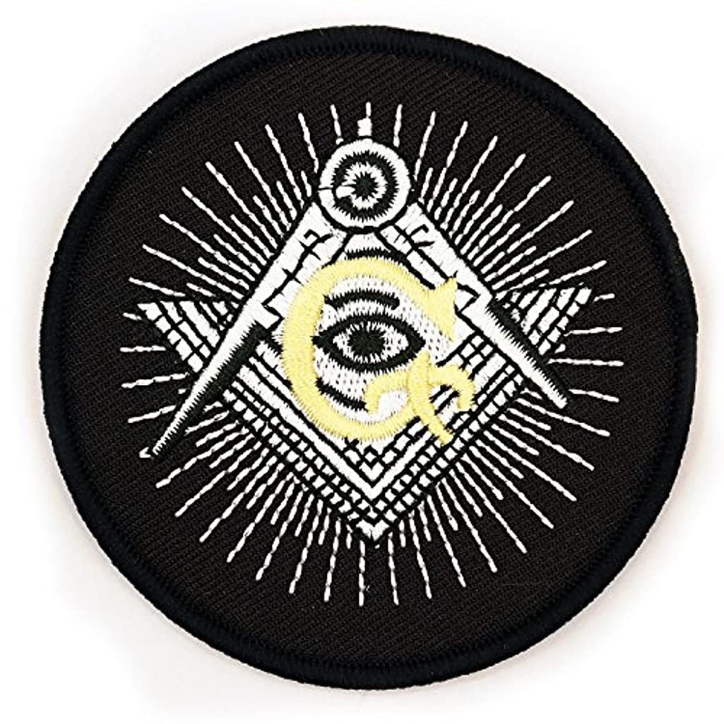 All Seeing Eye Square & Compass Embroidered Masonic Patch - 3