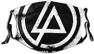 JONINOT Stonstain Linkin Park Konzentrische Bandana Wiederverwendbare waschbare winddichte Sturmhauben-Halsmanschette für Staub, im Freien, Festivals