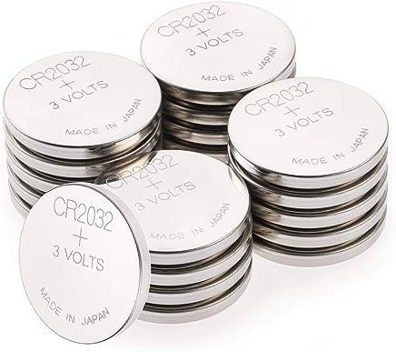 GP CR2032 Lithium Knopfzellen 3V (CR 2032 Spannung 3 Volt) Knopfbatterien 20 Stück (4x 5er Pack, Batterien einzeln entnehmbar)