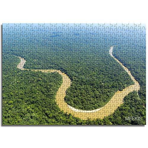 CHDBB 1000 Piezas Rompecabezas Juguetes educativos Amazon River Rompecabezas de Madera para Adolescentes y Adultos decoración única para el hogar Modernos