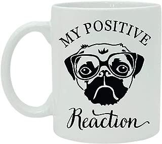 My Positive Reaction Quote Unique Mug, Coffee Mug, Typography Mug, White Ceramic Mug, Funny Mug, Inspiration Mug Gift