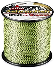 Ashconfish PEライン 釣り糸 X4 X8 色落ちない グリーン&ブラック (100m 150m 200m 300m 500m 1000m) (0.4号 0.6号 0.8号 1号 1.2号 1.5号 2号 2.5号 3号 3.5号 4号 5号 6号 7号 8号 9号 10号) 8編 ブラック&ホワイト