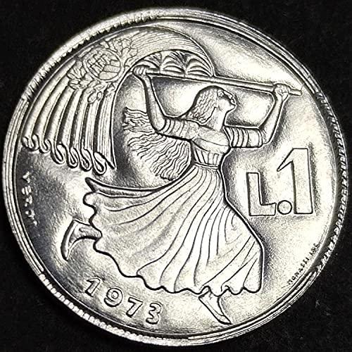 SHFGHJNM Monete Commemorative 1973 European San Marino 1 Monete straniere Lira Rare
