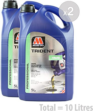 Millers Oils TRIDENT 10w-40 Semi Synthetic Engine Oil  Formerly XSS 10W-40  Service Pack  litres