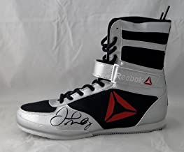 Floyd Mayweather Autographed Reebok Boxing Shoe Left Beckett BAS *Black* - Autographed Boxing Equipment
