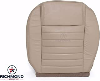 Richmond Auto Upholstery - Driver Side Bottom Replacement Leather Seat Cover, Tan (Compatible with 2005-2009 Ford Mustang GT)