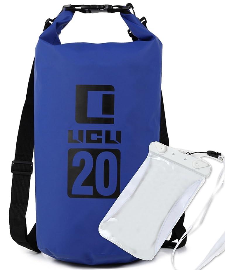 サークル事業チーターLICLI ドライバッグ 防水 リュック ショルダー バッグ 5L 10L 20L 30L 大容量 おしゃれ 防水バッグ 「 バイク 釣り 海 ダイビング 海水浴 防災 」「 耐水 スマホケース 付 」「 ドラム型 袋 」 9色 4サイズ