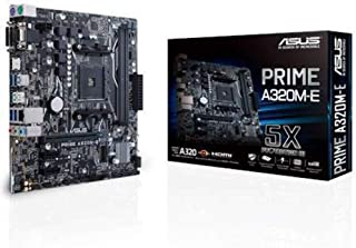 ASUS Prime A320M-E AMD A320 mATX Motherboard (90MB0V10-M0UAY0) - Motherboard Only (Renewed)