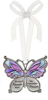 Ganz Butterfly Wishes Colored Ornament - We don't Remember days We remember Moments