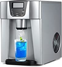 COOLLIFE Compact Countertop Ice Maker Machine with Water Dispenser