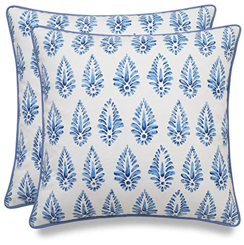 MANOJAVAYA Funda de almohada decorativa estampada