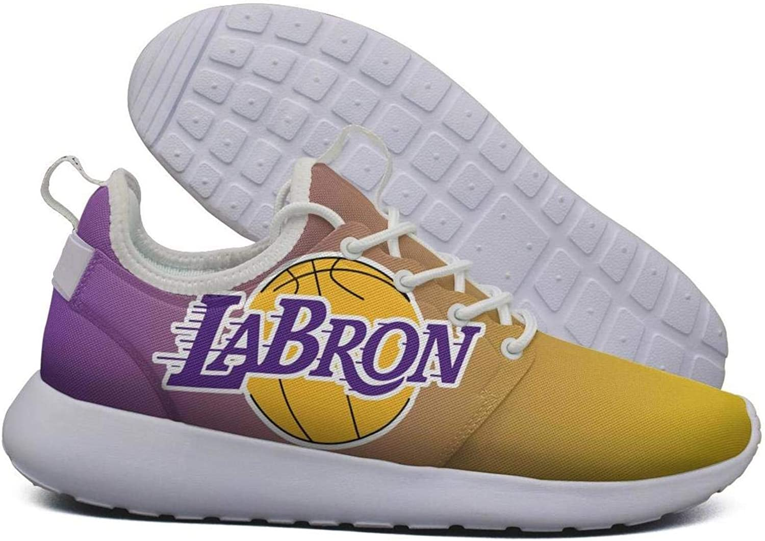 Womens Roshe Two Lightweight La_Bron_Yellow_Logo_Basketball Print Road Running mesh shoes