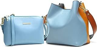 Shoulder Bags Spell Color Detachable Liner Bucket Bag Handbag Women Bags Tote