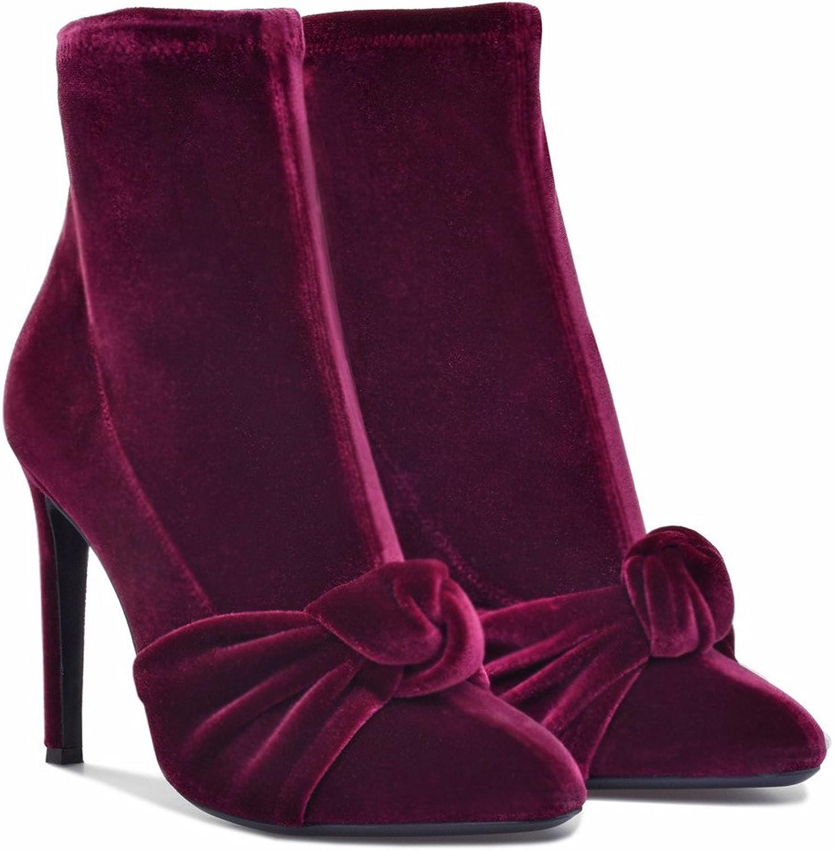 CCBubble High Heels shoes Women 2018 Short Boots Velvet Ladies shoes