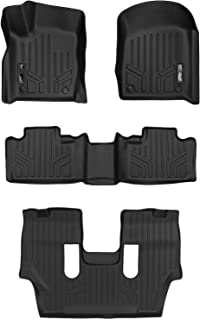 MAXLINER Floor Mats 3 Row Liner Set Black for 2016-2018 Dodge Durango with 2nd Row Bucket Seats