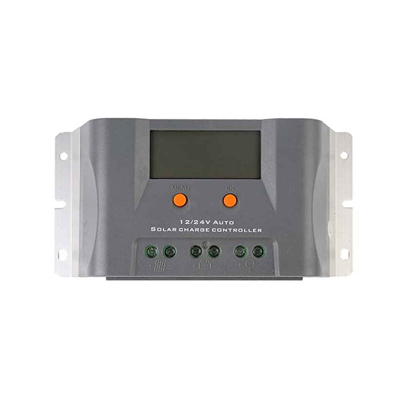 Dienspeak 30A Solar Panel Charge Controller Battery PWM 12V 24V Waterproof IP67 Intelligent Regulator USB Port Display