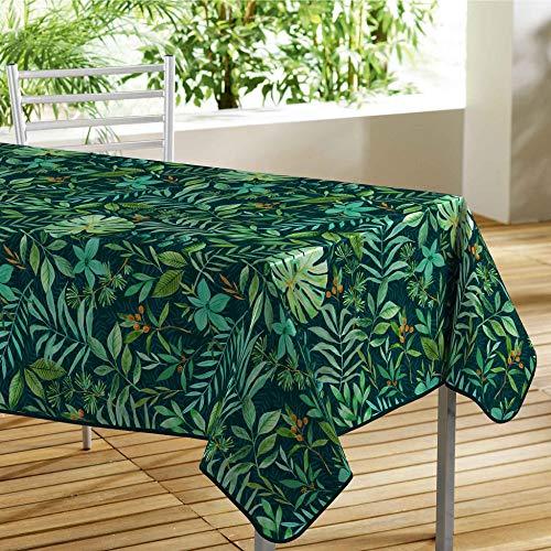 Mantel Rectangular (140 x 240 cm, PVC, Estampado de Madera de Madera de Madera de Color Verde