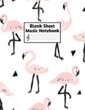 Blank Sheet Music Notebook: Easy Blank Staff Manuscript Book Large 8.5 X 11 Inches Musician Paper Wide 12 Staves Per Page for Piano, Flute, Violin, ... other Musical Instruments - Code : A4 1379