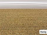 HEVO® Sisal Naturfaser Kollektion - Salsa Sisal Teppichboden Muster in 6 Farben - Inkl. 2%...