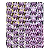 マウスパッド 抗菌 疲労低減 紫色の花 レーザー&光学式マウス対応パッド