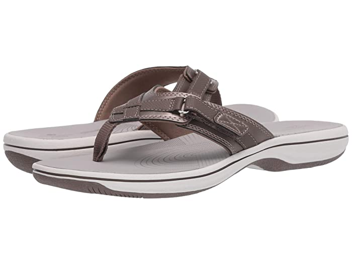 Clarks  Breeze Sea (Pewter Synthetic) Womens Sandals