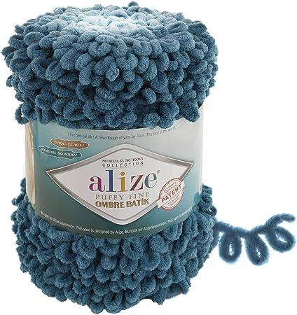 puffy no hook no neddle puffy yarn easy knitting yarn Alize Puffy Fine 15 YARDS new yarn baby blanket yarn pattern yarn velvet yarn