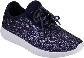 Women's Remy-18 Glitter Lace-Up Low Top Fashion Sneaker