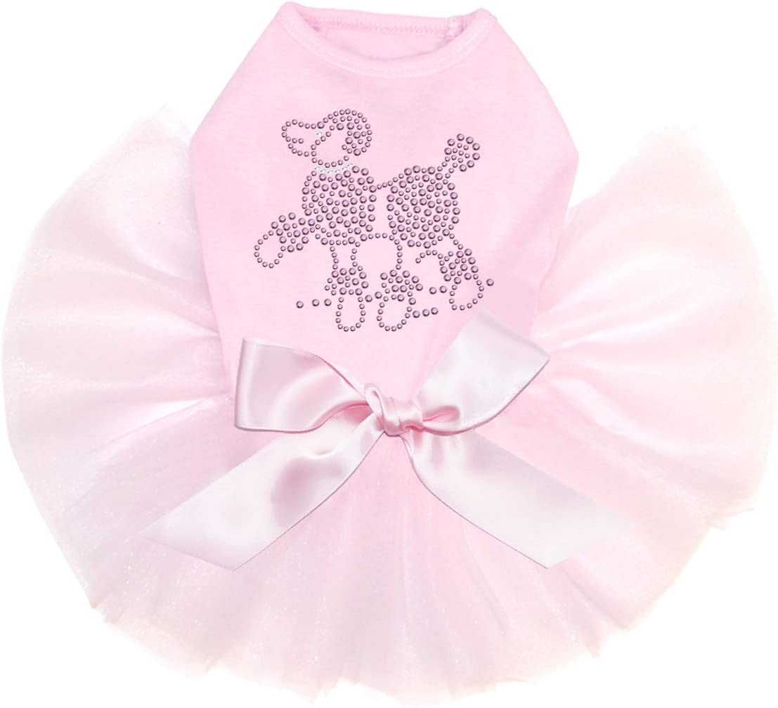 Pink Rhinestuds Poodle Bling Rhinestone Dog Brand new favorite L Tutu Dress
