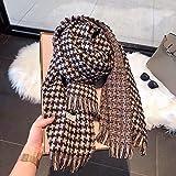 zami chal otoño e invierno moda femenina bufanda de cachemira molino de viento bufanda de punto-color café