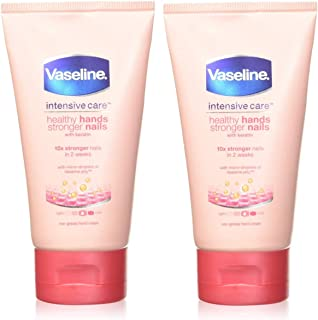 Vaseline Intensive Care Healthy Hands + Stronger Nails Hand Cream 75Ml - Pack of 2