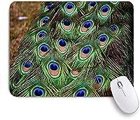 KAPANOU マウスパッド、青孔雀の羽 おしゃれ 耐久性が良い 滑り止めゴム底 ゲーミングなど適用 マウス 用ノートブックコンピュータマウスマット