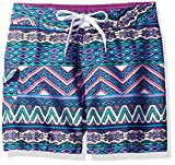 Kanu Surf Girls' Big Carrie Boardshort, Purple, Medium (8/10)