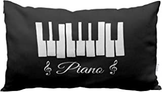 Yeuss Pillow Case Cover Retro Piano Keyboard Symbols and Mus