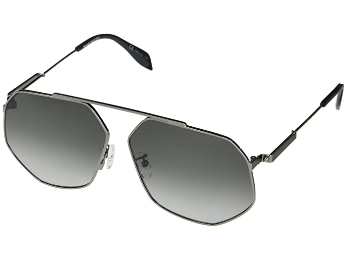 Alexander McQueen  AM0229SA (Ruthenium) Fashion Sunglasses