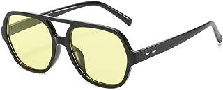 ShSnnwrl - Gafas De Moda Gafas De Sol Gafas De Sol De Doble Puente para Hombre, Gafas De Sol Clásicas Cuadradas Y Clásicas, Gafas De Sol para Playa Al Aire