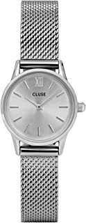 CLUSE La Vedette Mesh Full Silver CL50001 Women's Watch 24mm Stainless Steel Strap Minimalistic Design Casual Dress Japanese Quartz Elegant Timepiece