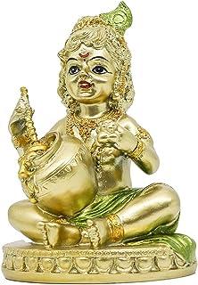 Hindu Baby Krishna Statue - Indian Small Krishna God Figurine for Home Mandir Idol Temple Pooja Murti Buddha Lord Religiou...