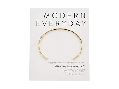 Dogeared Modern Everyday, Hammered Cuff Bracelet (Gold) Bracelet