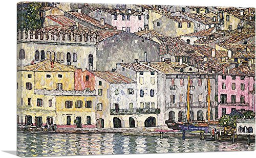 "ARTCANVAS Malcesine on Lake Garda 1913 Canvas Art Print by Gustav Klimt - 18"" x 12"" (0.75"" Deep)"