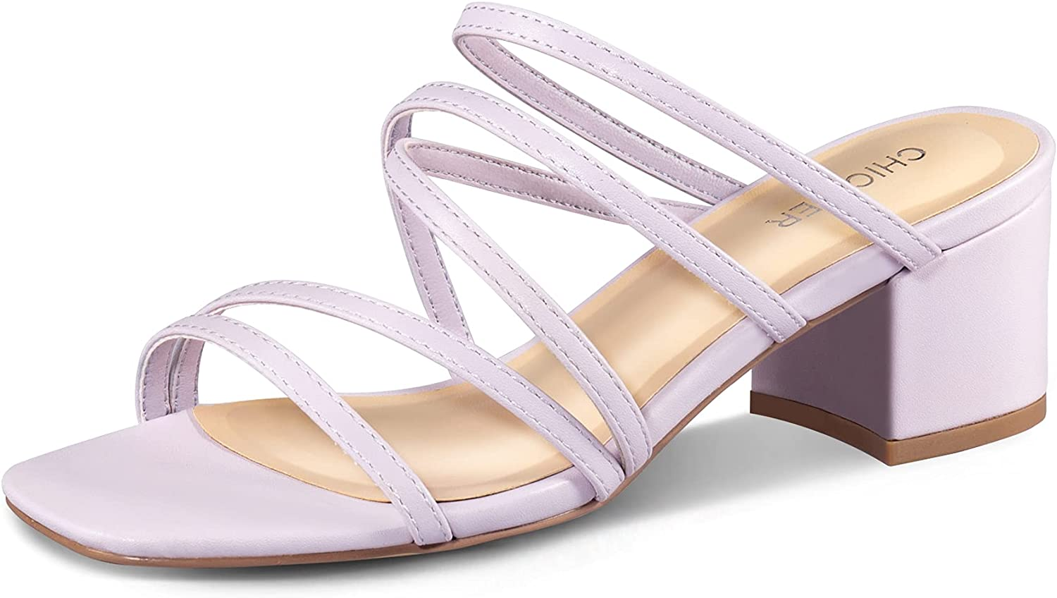 Women's Super beauty product restock quality top! Heeled Sandals Beauty products Block Chunky Low Heel Toe Square Strappy