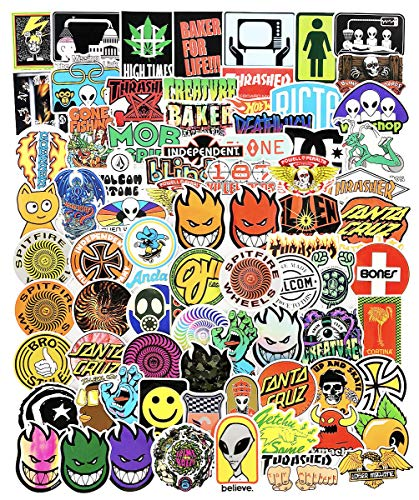 Cool Skateboard Brand Stickers Pack for Laptop Car Water Bottles Skate Bike Luggage Helmet Phone Vinyl 100pcs