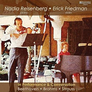Nadia Reisenberg & Erick Friedman in Performance