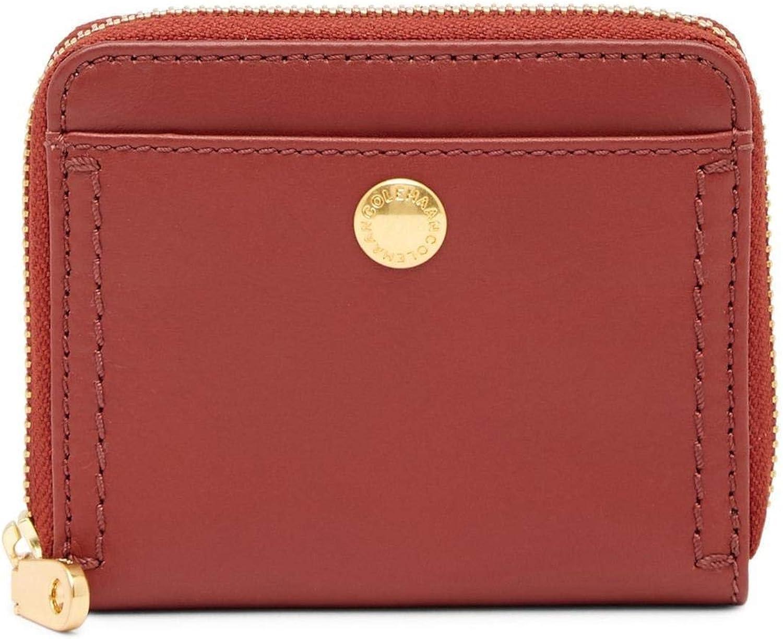Cole Haan Benson II Fire Brick Leather Zip Around Wallet
