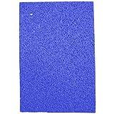 吸水 速乾 セルロース スポンジ 水切りマット 大判 サイズ 45×31cm ブルー