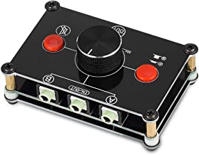 Nobsound Little Bear MC102 Mini 2(1)-in-1(2)-Out 3.5mm Stereo Audio Switch Audio Switcher Passive Speaker Headphone Manual Selector Splitter Box Audio Sharing (Black)