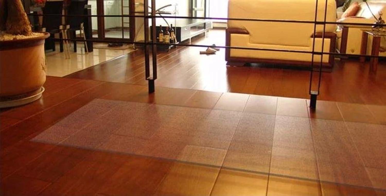 Floor Predector mat Transparent Floor mat Computer Chair Chair mat PVC mats Office Chair mat-E 100x100cm(39x39inch)