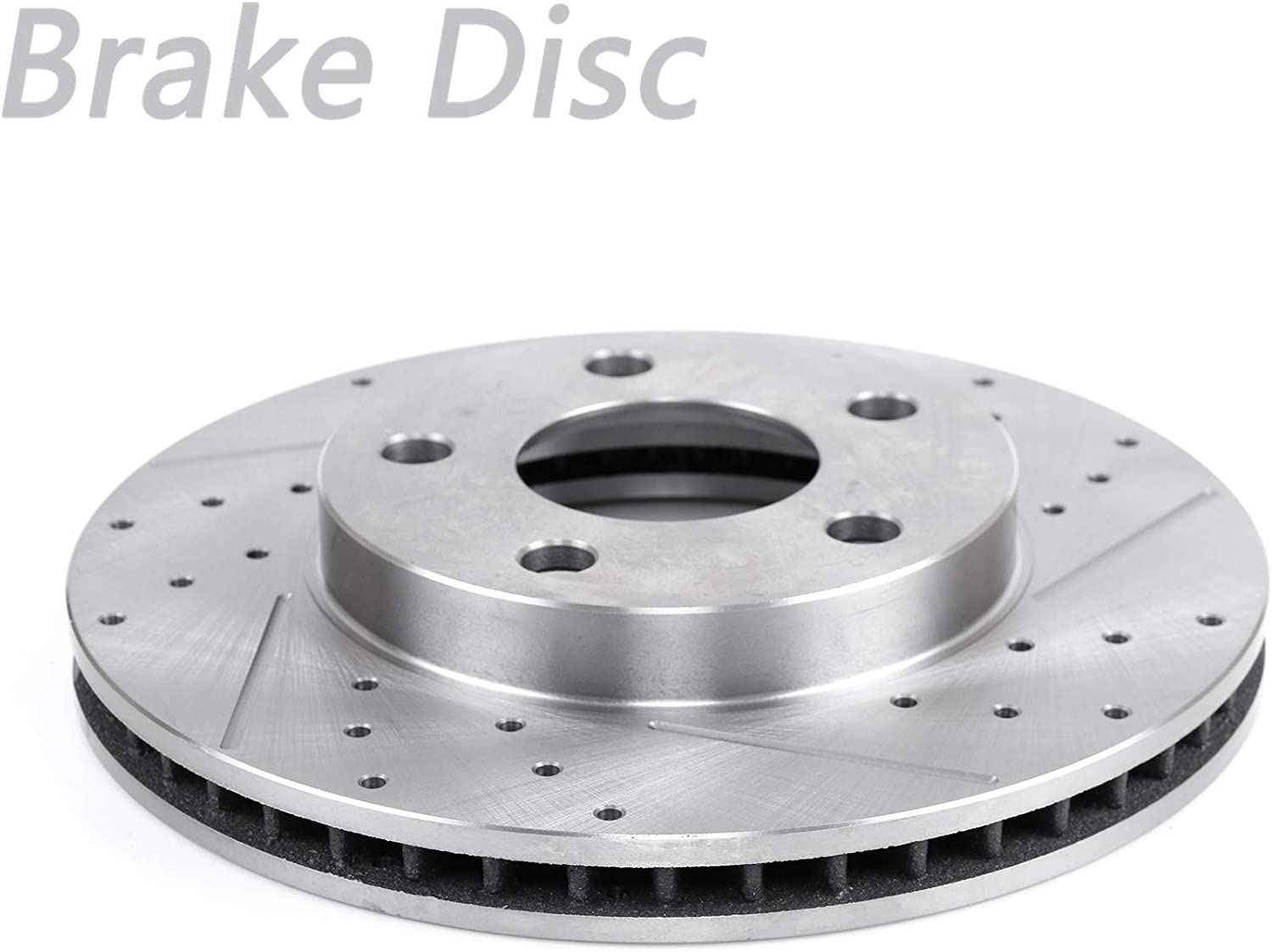 1pc Front Right Drilled Ranking TOP6 Slotted Vented Fit Spring new work Brake Disc Rotor