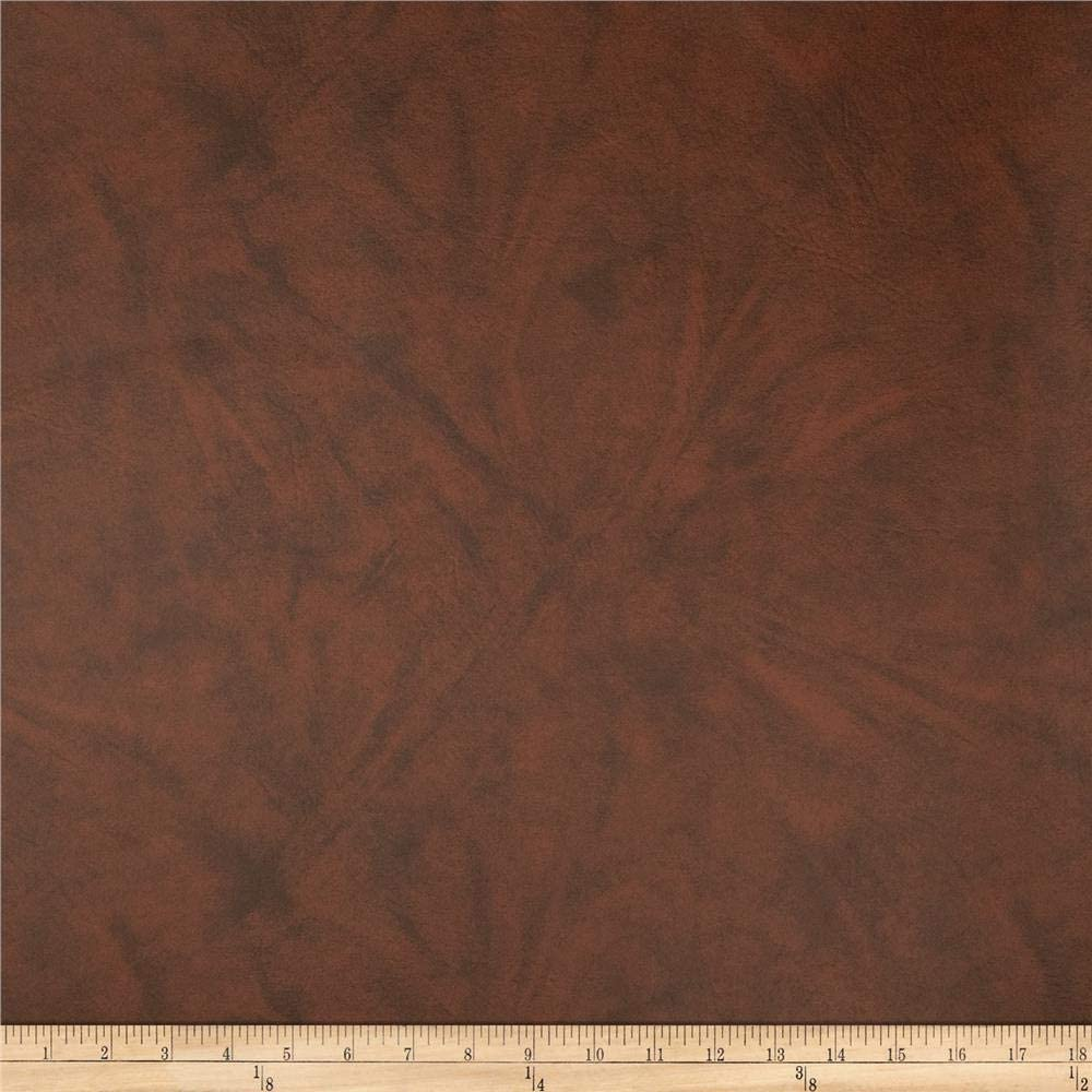 Topics on TV Alpine Omega Vinyl Brown Fabric by Outstanding Yard the